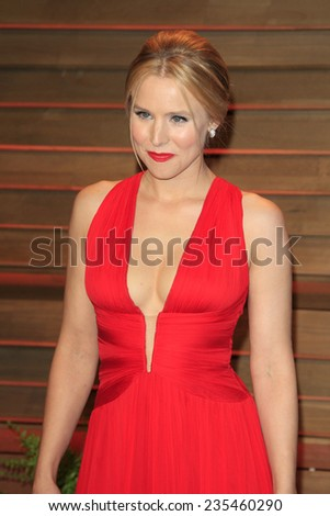 LOS ANGELES - MAR 2:  Kristen Bell at the 2014 Vanity Fair Oscar Party at the Sunset Boulevard on March 2, 2014 in West Hollywood, CA - stock photo