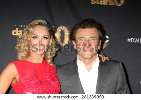 """LOS ANGELES - MAR 16:  Kym Johnson, Robert Herjavec at the """"Dancing With the Stars"""" Season 20 Premiere Party at the Hyde Sunset Kitchen & Cocktails on March 16, 2015 in Los Angeles, CA - stock photo"""
