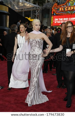LOS ANGELES - MAR 2:  Lady Gaga at the 86th Academy Awards at Dolby Theater, Hollywood & Highland on March 2, 2014 in Los Angeles, CA - stock photo
