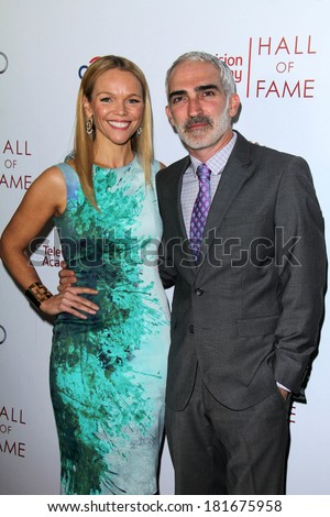 LOS ANGELES - MAR 11:  Lauren Bowles, Patrick Fischler at the Television Academy's 23rd Hall Of Fame Induction Gala at Beverly Wilshire Hotel on March 11, 2014 in Beverly Hills, CA - stock photo