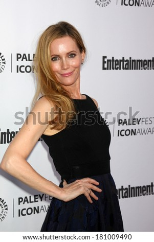 LOS ANGELES - MAR 10:  Leslie Mann at the PALEYFEST Icon Award IHO Judd Apatow at Paley Center For Media on March 10, 2014 in Beverly Hills, CA - stock photo