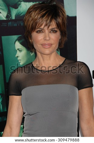 LOS ANGELES - MAR 12:  Lisa Rinna arrives at the VERONICA MARS LOS ANGELES PREMIERE  on March 12, 2014 in Los Angeles, CA                 - stock photo