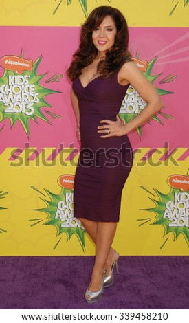 LOS ANGELES - MAR 23 - Maria Canals Barrera arrives at the Nickelodeons 2013 Kids Choice Awards on March 23,  2013 in Los Angeles, CA              - stock photo