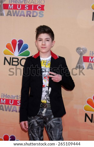 LOS ANGELES - MAR 29:  Mason Cook at the 2015 iHeartRadio Music Awards at the Shrine Auditorium on March 29, 2015 in Los Angeles, CA - stock photo