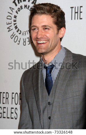 "LOS ANGELES - MAR 16:  Matthew Morrison arriving at the ""Glee"" PaleyFest 2011 at Saban Theatre on March 16, 2011 in Beverly Hills, CA"
