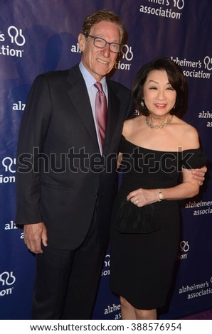 LOS ANGELES - MAR 9:  Maury Povich, Connie Chung at the A Night at Sardis - 2016 Alzheimer's Association Event at the Beverly Hilton Hotel on March 9, 2016 in Beverly Hills, CA