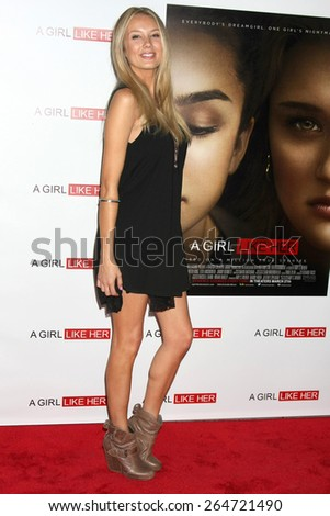 """LOS ANGELES - MAR 27:  Melissa Ordway at the """"A Girl Like Her"""" Screening at the ArcLight Hollywood Theaters on March 27, 2015 in Los Angeles, CA - stock photo"""