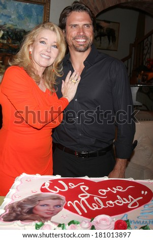 "LOS ANGELES - MAR 4:  Melody Thomas Scott, Joshua Morrow at the Melody Thomas Scott Celebrates 35 Years at the ""Young and the Restless"" at CBS Television City on March 4, 2014 in Los Angeles, CA"