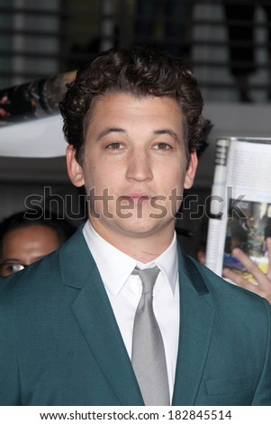 "LOS ANGELES - MAR 18:  Miles Teller at the ""Divergent"" Los Angeles Premiere at Bruin Theater on March 18, 2014 in Westwood, CA"