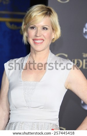 """LOS ANGELES - MAR 1:  Molly Ringwald at the """"Cinderella"""" World Premiere at the El Capitan Theater on March 1, 2015 in Los Angeles, CA - stock photo"""