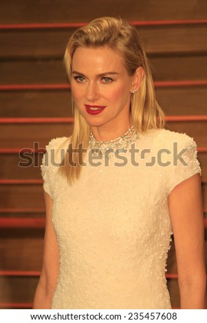 LOS ANGELES - MAR 2:  Naomi Watts at the 2014 Vanity Fair Oscar Party at the Sunset Boulevard on March 2, 2014 in West Hollywood, CA - stock photo