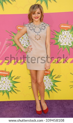 LOS ANGELES - MAR 23 - Oana Gregory arrives at the Nickelodeons 2013 Kids Choice Awards on March 23,  2013 in Los Angeles, CA              - stock photo
