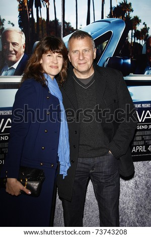LOS ANGELES - MAR 22:  Paul Reiser, wife Paula arrive at the Los Angeles HBO Premiere of 'His Way' at Paramount Studios in Los Angeles, California on March 22, 2011.