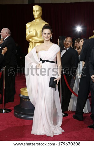 LOS ANGELES - MAR 2:  Penelope Cruz at the 86th Academy Awards at Dolby Theater, Hollywood & Highland on March 2, 2014 in Los Angeles, CA - stock photo