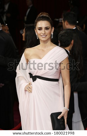 LOS ANGELES - MAR 2:: Penelope Cruz  at the 86th Annual Academy Awards at Hollywood & Highland Center on March 2, 2014 in Los Angeles, California - stock photo