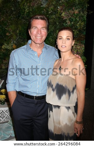 LOS ANGELES - MAR 26:  Peter Bergman, Gina Tognoni at the Young & Restless 42nd Anniversary Celebration at the CBS Television City on March 26, 2015 in Los Angeles, CA - stock photo