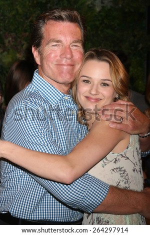 LOS ANGELES - MAR 26:  Peter Bergman, Hunter King at the Young & Restless 42nd Anniversary Celebration at the CBS Television City on March 26, 2015 in Los Angeles, CA - stock photo