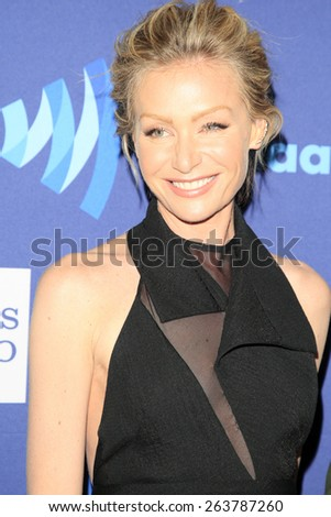 LOS ANGELES - MAR 21:  Portia deRossi at the 26th Annual GLAAD Media Awards at the Beverly Hilton Hotel on March 21, 2015 in Beverly Hills, CA - stock photo