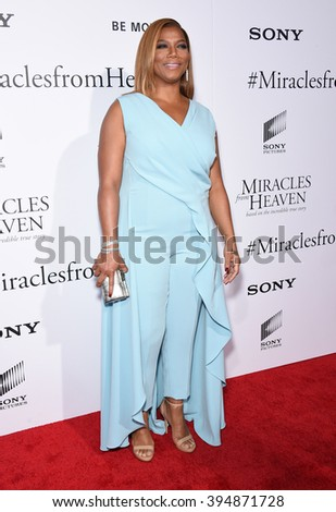 "LOS ANGELES - MAR 09:  Queen Latifah arrives to the ""Miracles Form Heaven"" Los Angeles Premiere  on March 09, 2016 in Hollywood, CA."
