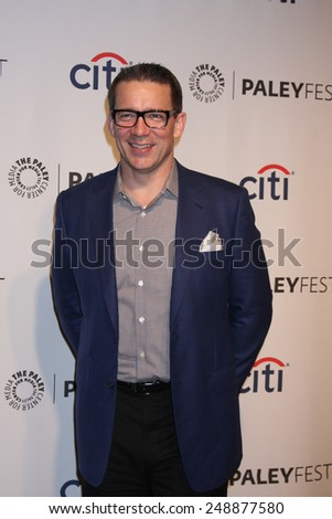 LOS ANGELES - MAR 13:  Rob Thomas at the PaleyFEST Vernoica Mars Event at Dolby Theataer on March 13, 2014 in Los Angeles, CA - stock photo