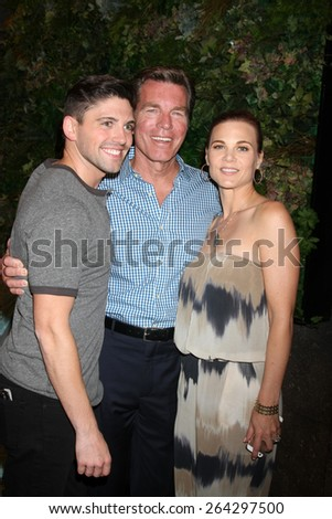 LOS ANGELES - MAR 26:  Robert Adamson, Peter Bergman, Gina Tognoni at the Young & Restless 42nd Anniversary Celebration at the CBS Television City on March 26, 2015 in Los Angeles, CA - stock photo