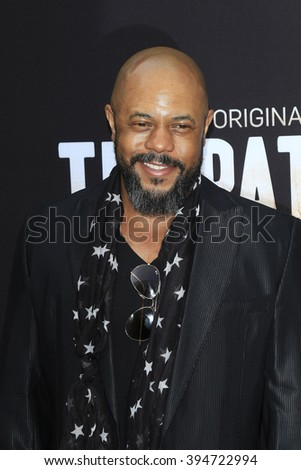 LOS ANGELES - MAR 21: Rockmond Dunbar at the Premiere of 'The Path' at Arclight Hollywood on March 21, 2016 in Los Angeles, California - stock photo