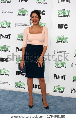 LOS ANGELES - MAR 1:  Rosario Dawson at the Film Independent Spirit Awards at Tent on the Beach on March 1, 2014 in Santa Monica, CA