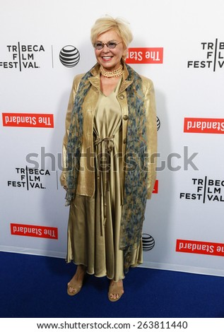 LOS ANGELES - MAR 23:  Roseanne Barr at the 2015 Tribeca Film Festival Official Kick-off Party at the The Standard on March 23, 2015 in West Hollywood, CA - stock photo