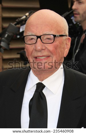 LOS ANGELES - MAR 2:  Rupert Murdoch at the 2014 Vanity Fair Oscar Party at the Sunset Boulevard on March 2, 2014 in West Hollywood, CA - stock photo
