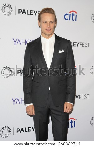 "LOS ANGELES - MAR 12:  Sam Heughan at the PaleyFEST LA 2015 - ""Outlander"" at the Dolby Theater on March 12, 2015 in Los Angeles, CA"