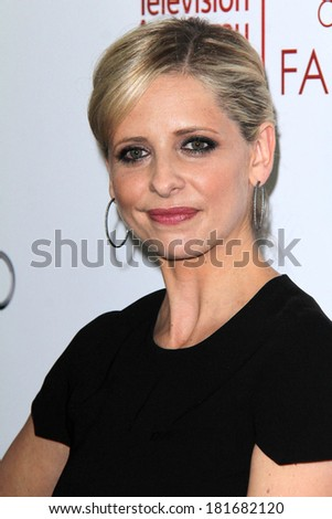 LOS ANGELES - MAR 11:  Sarah Michelle Gellar at the Television Academy's 23rd Hall Of Fame Induction Gala at Beverly Wilshire Hotel on March 11, 2014 in Beverly Hills, CA