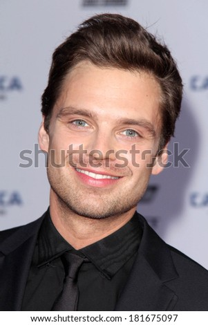 "LOS ANGELES - MAR 13:  Sebastian Stan at the ""Captain America: The Winter Soldier"" LA Premiere at El Capitan Theater on March 13, 2014 in Los Angeles, CA"