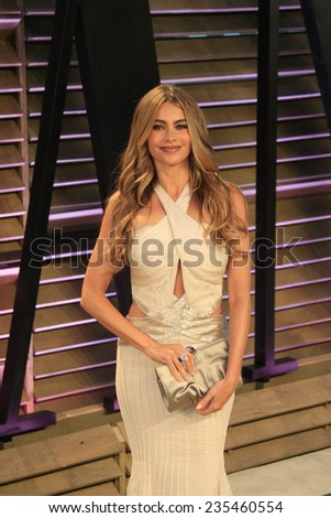 LOS ANGELES - MAR 2:  Sofia Vergara at the 2014 Vanity Fair Oscar Party at the Sunset Boulevard on March 2, 2014 in West Hollywood, CA - stock photo