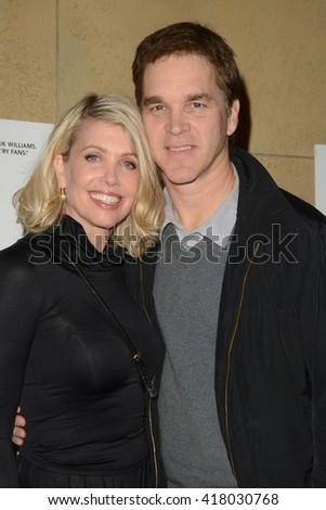 LOS ANGELES - MAR 22:  Stacey Toten, Luc Robitaille at the I Saw the Light LA Premiere at the Egyptian Theatre on March 22, 2016 in Los Angeles, CA - stock photo