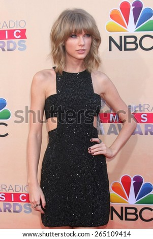 LOS ANGELES - MAR 29:  Taylor Swift at the 2015 iHeartRadio Music Awards  at the Shrine Auditorium on March 29, 2015 in Los Angeles, CA - stock photo