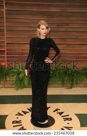 LOS ANGELES - MAR 2:  Taylor Swift at the 2014 Vanity Fair Oscar Party at the Sunset Boulevard on March 2, 2014 in West Hollywood, CA - stock photo