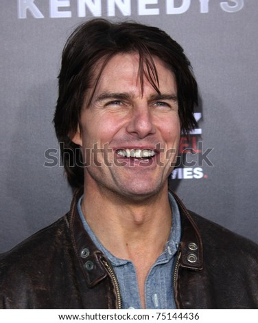 "LOS ANGELES - MAR 28:  Tom Cruise arrives to ""The Kennedys"" World Premiere  on April 11, 2011 in Hollywood, CA - stock photo"