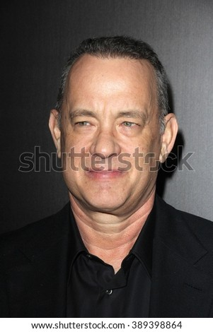 LOS ANGELES - MAR 10:  Tom Hanks at the Everything Is Copy LA Premiere at the TCL Chinese 6 Theaters on March 10, 2016 in Los Angeles, CA - stock photo