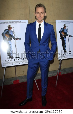 LOS ANGELES - MAR 22: Tom Hiddleston at the Premiere of 'I Saw The Light' at the Egyptian Theatre on March 22, 2016 in Los Angeles, California - stock photo