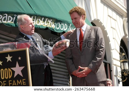 LOS ANGELES - MAR 24:  Tom LeBonge, Will Ferrell at the Will Farrell Hollywood Walk of Fame Star Ceremony at the Hollywood Boulevard on March 24, 2015 in Los Angeles, CA - stock photo