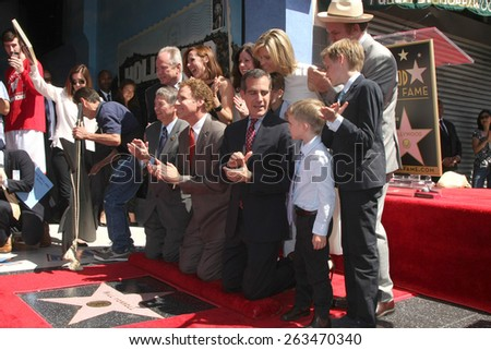 LOS ANGELES - MAR 24:  Will Ferrell, guests, family, officials at the Will Ferrell Hollywood Walk of Fame Star Ceremony at the Hollywood Boulevard on March 24, 2015 in Los Angeles, CA - stock photo