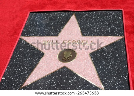 LOS ANGELES - MAR 24:  Will Ferrell's Star at the Will Ferrell Hollywood Walk of Fame Star Ceremony at the Hollywood Boulevard on March 24, 2015 in Los Angeles, CA - stock photo