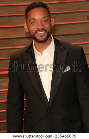 LOS ANGELES - MAR 2:  Will Smith at the 2014 Vanity Fair Oscar Party at the Sunset Boulevard on March 2, 2014 in West Hollywood, CA - stock photo