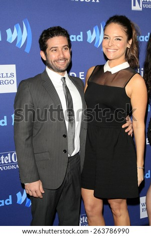 LOS ANGELES - MAR 21:  Yara Martinez at the 26th Annual GLAAD Media Awards at the Beverly Hilton Hotel on March 21, 2015 in Beverly Hills, CA - stock photo