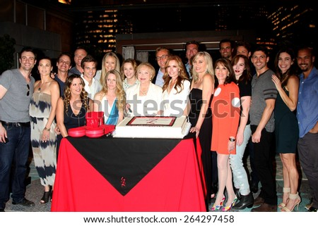 LOS ANGELES - MAR 26:  Young & Restless Cast at the Young & Restless 42nd Anniversary Celebration at the CBS Television City on March 26, 2015 in Los Angeles, CA - stock photo