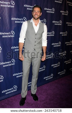 LOS ANGELES - MAR 18:  Zachary Levi at the 23rd Annual A Night at Sardi's to benefit the Alzheimer's Association at the Beverly Hilton Hotel on March 18, 2015 in Beverly Hills, CA - stock photo