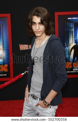 LOS ANGELES - MARCH 6: Blake Michael at the World Premiere of 'Mars Needs Moms' held at the El Capitan Theater in Los Angeles, California on March 6, 2011 - stock photo