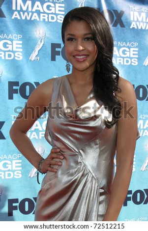 LOS ANGELES -  MARCH 4: Kali Hawk arriving at the 42nd NAACP Image Awards at Shrine Auditorium on March 4, 2011 in Los Angeles, CA