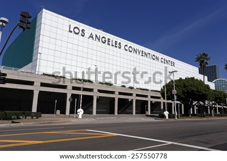 LOS ANGELES â?? MARCH 17: The Los Angeles Convention Center located in downtown Los Angeles, California on March 17, 2014. The LACC hosts major conventions, trade shows, meetings and special events. - stock photo