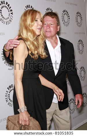 LOS ANGELES - MAY 13: Alana Stewart and Ryan O'Neal at the Paley Center for Media world premiere screening of 'Farrah's Story' in Beverly Hills, California on May 13, 2009 - stock photo